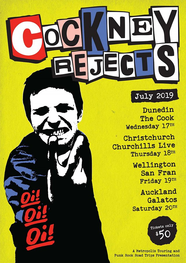 Cockney Rejects - Re-scheduled Dates Announced!