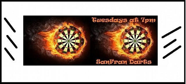 Tuesday Darts open from 6pm