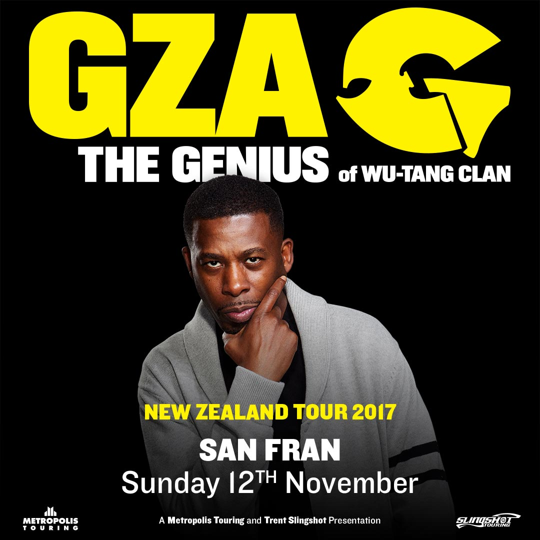 GZA - The Genius (USA) NZ Tour